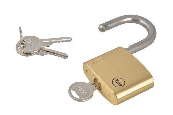 Yale Locks Y110 50mm Brass Padlock / Stainless Shackle
