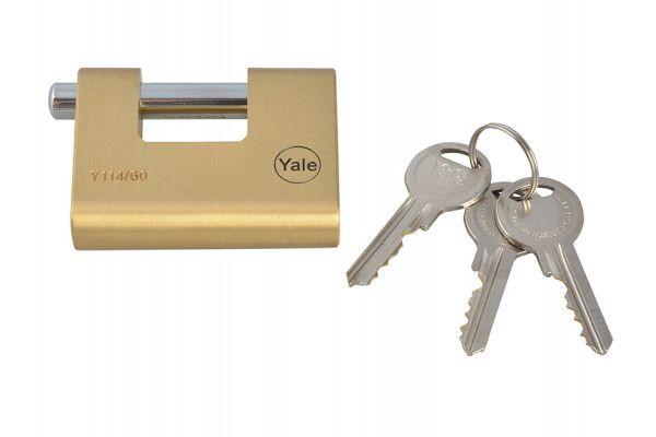 Yale Locks Y114 60mm Brass Shutter Padlock