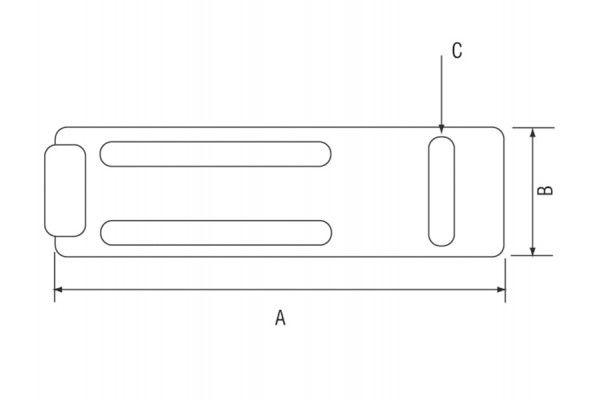 Yale Locks Y135 Steel Hasp & Staple Black Finish 120mm