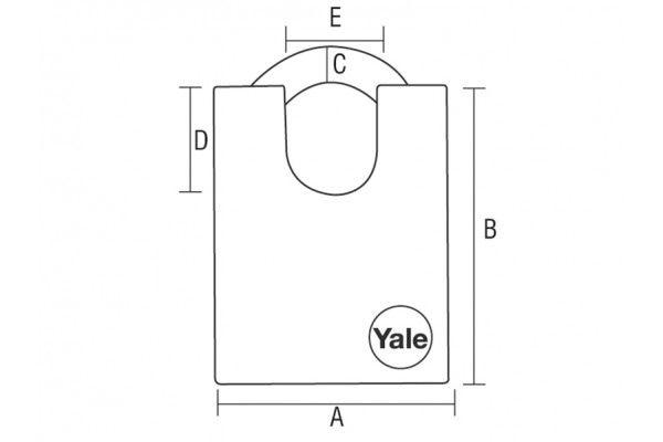 Yale Locks Y210 51mm Steel Padlock Closed Shackle