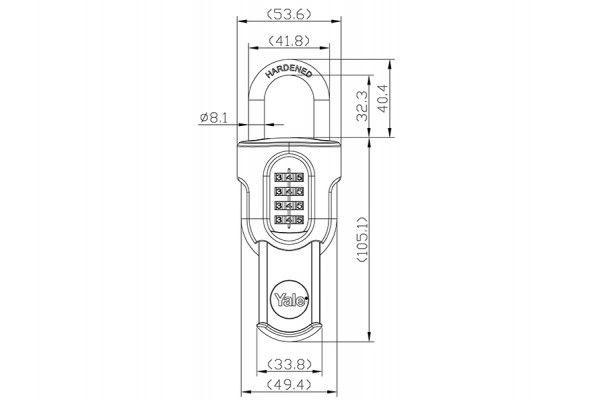 Yale Locks Y879 Combi Padlock with Slide Cover 50mm