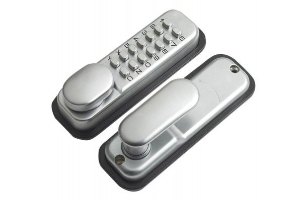 Yale Locks P-DL02-SC Push Button Door Lock Chrome Finish Hold Open Function
