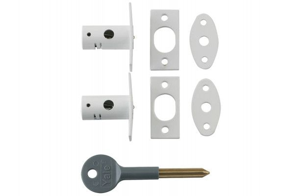 Yale Locks 8001 Security Bolts White Finish Pack of 2 Visi