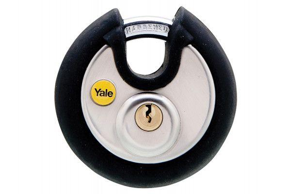 Yale Locks Y130 70mm Stainless Steel Disc Padlock