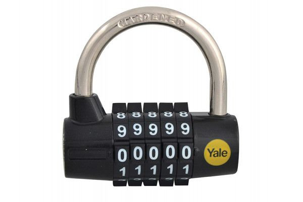 Yale Locks Y160 48mm Steel 5-Dial Combination Padlock