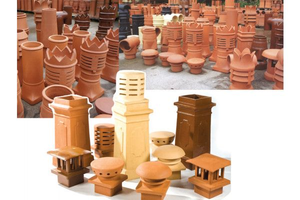 Chimney Pot - Push-On 'H' - Height 450mm - Top 150mm (KPOH150)