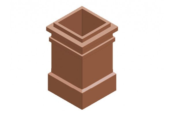 Chimney Pot - Plain Square 2 Beads (KYQ19)