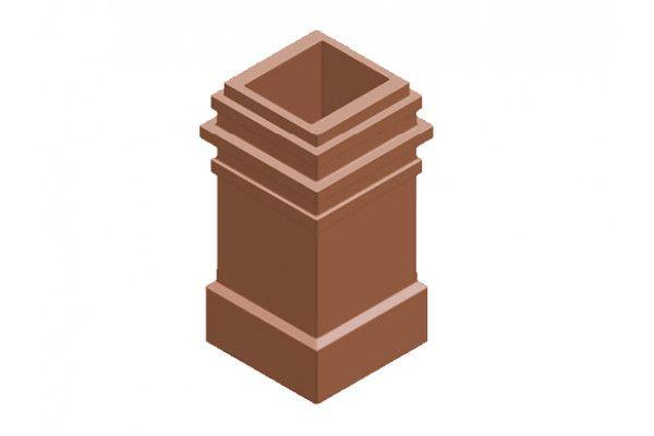 Chimney Pot - Plain Square 3 Beads (KYQ20)