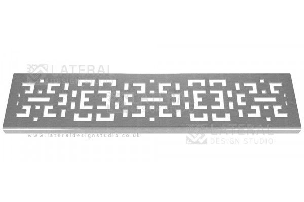 Aquascape - Drainage Channel Cover - Stainless Steel Grate - Crossword