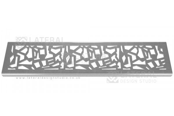 Aquascape - Drainage Channel Cover - Stainless Steel Grate - Flint