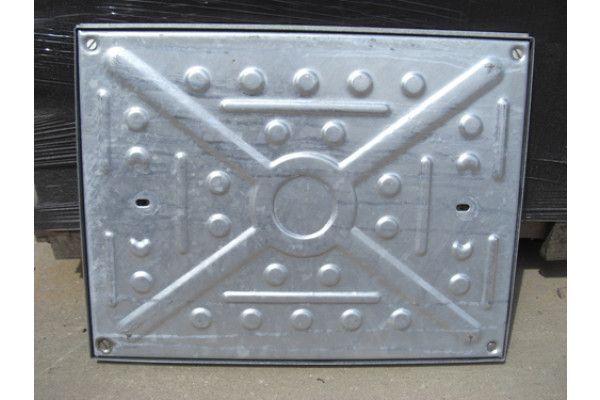 Manhole Covers - Pressed Steel Galvanised - Double Seal