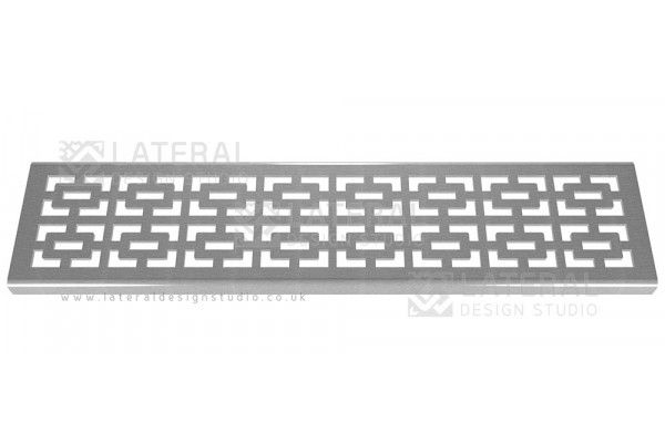 Aquascape - Drainage Channel Cover - Stainless Steel Grate - Geo Rectangular