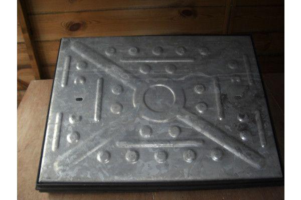 Manhole Covers - Pressed Steel Galvanised - Single Seal