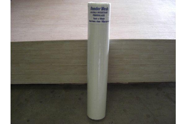 Alkali Resistant Fibreglass Render Mesh - 1m x 50m - 4mm Mesh - 160g/m2