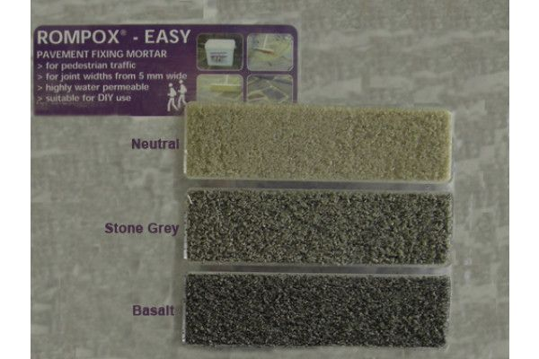 Romex - Rompox Easy Pointing Mortar - Stone Grey - Paving Grouting (Jointing Compound) 15Kg