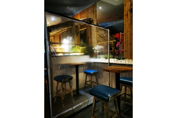 Free Standing Clear Screen - Social Distancing - Offices, Bars, Restaurants - Covid-19 PPE - 2 x 2.2m